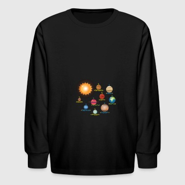 Solar System Planets Science | Educational - Kids' Long Sleeve T-Shirt