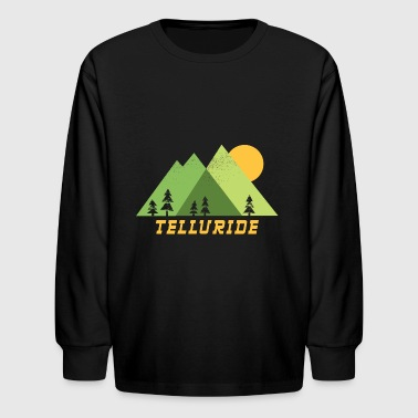 telluride colorado mountains - Kids' Long Sleeve T-Shirt