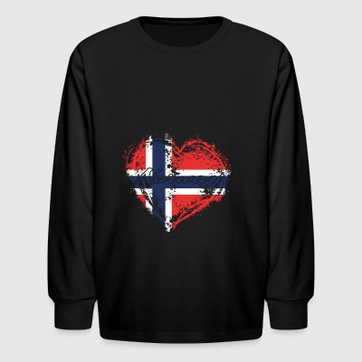 HOME ROOTS COUNTRY GIFT LOVE Norway - Kids' Long Sleeve T-Shirt