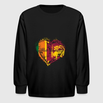 HOME ROOTS COUNTRY GIFT LOVE Sri lanka - Kids' Long Sleeve T-Shirt