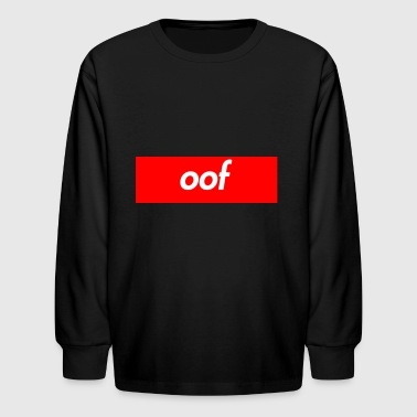 oof supreme box logo shirt - Kids' Long Sleeve T-Shirt