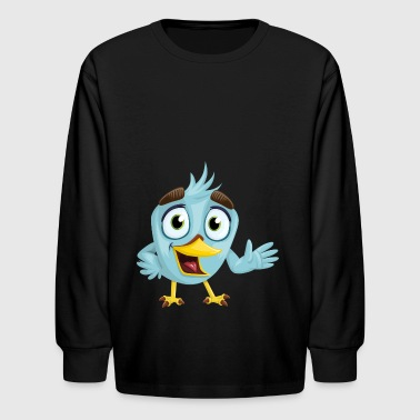bird bird beak charming eyes looking blue fed - Kids' Long Sleeve T-Shirt