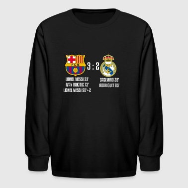 FC Barcelona 3 - 2 Real Madrid - Kids' Long Sleeve T-Shirt