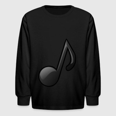 Music Note Musical Notes Instrument Gift Present - Kids' Long Sleeve T-Shirt