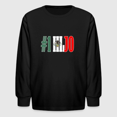Cool Hijo Gift Mexican Shirt For Mexican Flag Shirt for Mexican Pride Outline - Kids' Long Sleeve T-Shirt