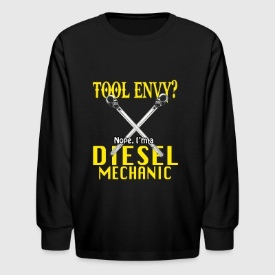 Funny Diesel Mechanic Shirt Tool Envy? - Kids' Long Sleeve T-Shirt