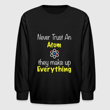 BACK DESIGN Atom makes up everything - Kids' Long Sleeve T-Shirt