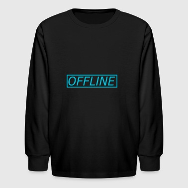 Offline Blue - Kids' Long Sleeve T-Shirt