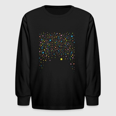 Silvester. Colorful confetti with stars. - Kids' Long Sleeve T-Shirt