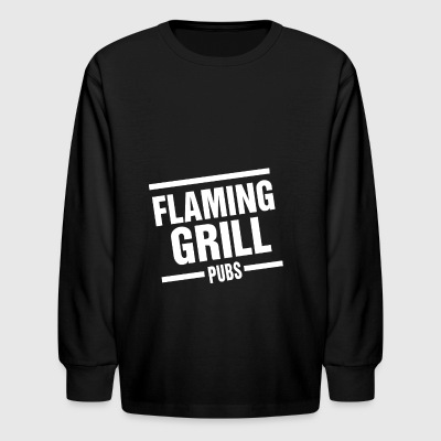 Flaming Grill - Kids' Long Sleeve T-Shirt