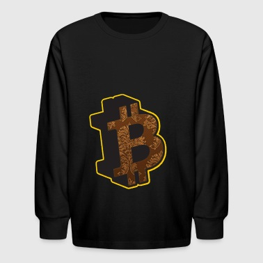 Bitcoin Bitcoins Rothbard Anarchy Anarchism A - Kids' Long Sleeve T-Shirt