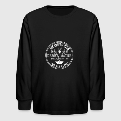 The Losers' Club Emblem - White Text - Kids' Long Sleeve T-Shirt