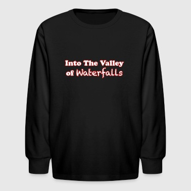 Into the Valley of Waterfalls- Red - Kids' Long Sleeve T-Shirt