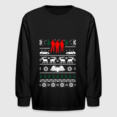 Supernatural Ugly Christmas Sweater Xmas - Kids' Long Sleeve T-Shirt