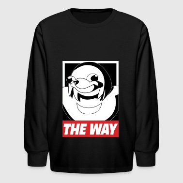 OBEY THE WAY Ugandan knuckles - Kids' Long Sleeve T-Shirt