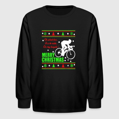 Bicycle Christmas Shirt - Kids' Long Sleeve T-Shirt