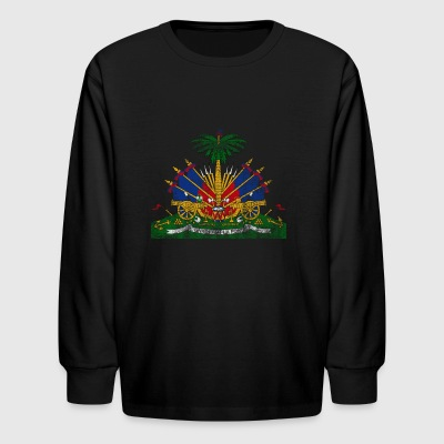 Haitian Coat of Arms Haiti Symbol - Kids' Long Sleeve T-Shirt