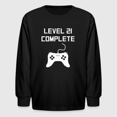 Level 21 Complete Video Games 21st Birthday - Kids' Long Sleeve T-Shirt