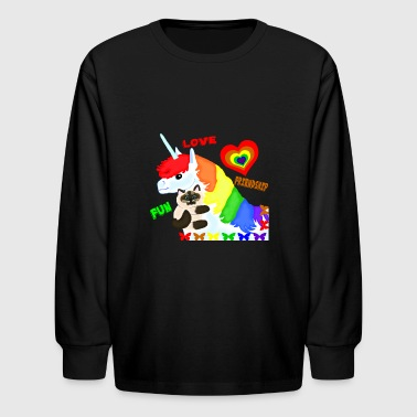 Love, Friendship, Fun - Kids' Long Sleeve T-Shirt