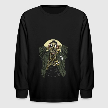 Gasmask Gangsta. The crazy bling bling guy. - Kids' Long Sleeve T-Shirt
