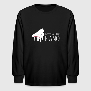 Piano - Kids' Long Sleeve T-Shirt