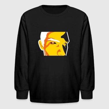Face Of A Man Spying - Kids' Long Sleeve T-Shirt