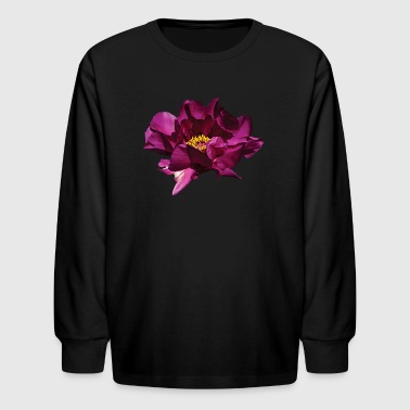 Magenta Peony - Kids' Long Sleeve T-Shirt