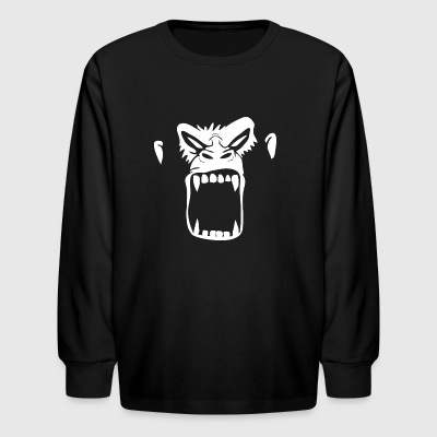 Gorilla Face - Kids' Long Sleeve T-Shirt