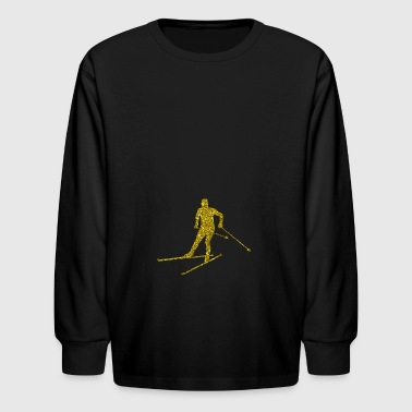 Golden Cross-country skiing - Kids' Long Sleeve T-Shirt