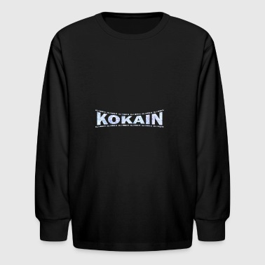 LOVE TECHNO GESCHENK goa pbm KOKAIN GABBER - Kids' Long Sleeve T-Shirt