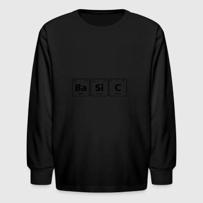 basic periodic table element geek nerd chemistry - Kids' Long Sleeve T-Shirt