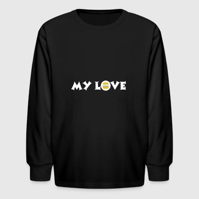 burger my love is fast food - Kids' Long Sleeve T-Shirt