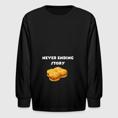 Burger story - Kids' Long Sleeve T-Shirt