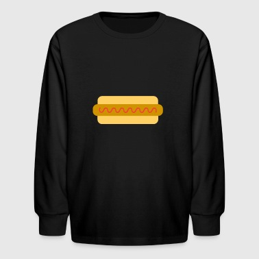 hotdog hot dog sausages fast food fastfood8 - Kids' Long Sleeve T-Shirt