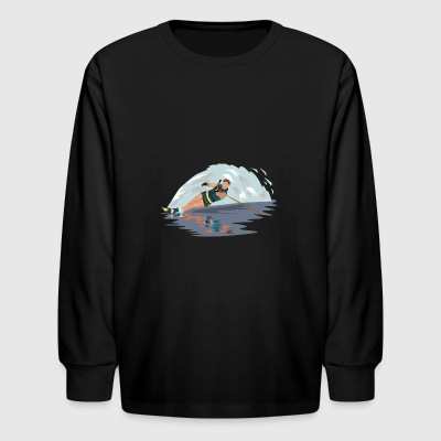 water skiing water ski wasser3 - Kids' Long Sleeve T-Shirt
