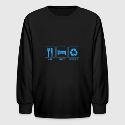 Eat Sleep Recycle - Kids' Long Sleeve T-Shirt