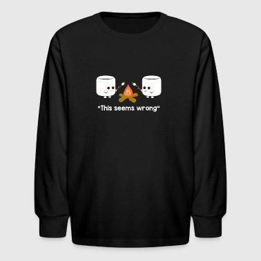 Marshmallow Camping - Kids' Long Sleeve T-Shirt