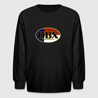 OBX Outer Banks North Carolina Flag - Kids' Long Sleeve T-Shirt