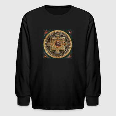 Kalachakra Mandala - Kids' Long Sleeve T-Shirt
