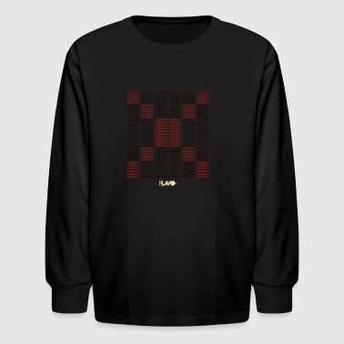xxxtentacion mosaic graphic - Kids' Long Sleeve T-Shirt