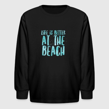 At The Beach - Kids' Long Sleeve T-Shirt
