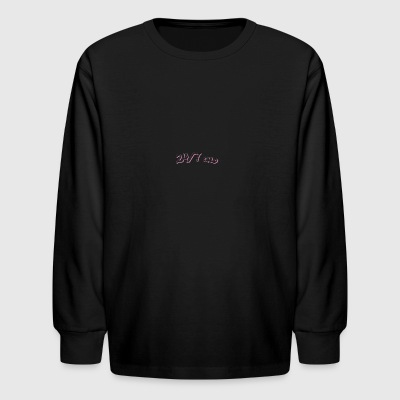youtube label - Kids' Long Sleeve T-Shirt