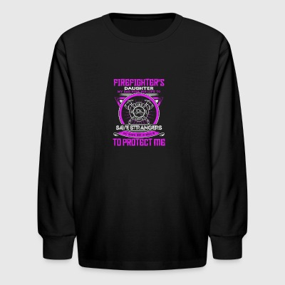 Firefighter protect Daughter - Kids' Long Sleeve T-Shirt