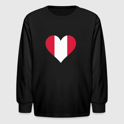 A Heart For Peru - Kids' Long Sleeve T-Shirt
