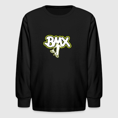 BMX Logo yellow - Kids' Long Sleeve T-Shirt