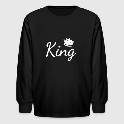 Funny Partner Partnerlook Shirt KING - Kids' Long Sleeve T-Shirt