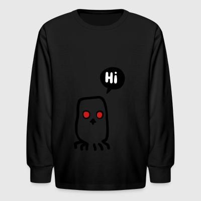 bird says hello - Kids' Long Sleeve T-Shirt