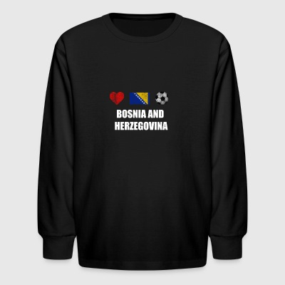 Bosnia and Herzegovina Football Shirt - Bosnia and - Kids' Long Sleeve T-Shirt