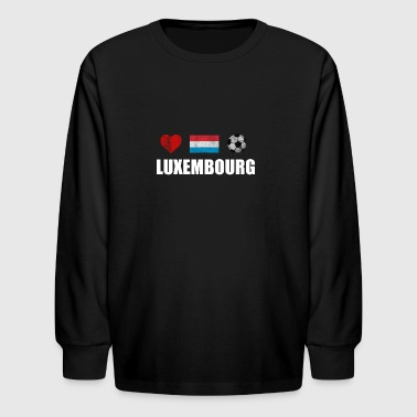 Luxembourg Football Shirt - Luxembourg Soccer Jers - Kids' Long Sleeve T-Shirt