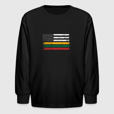 Lithuanian American Flag - USA Lithuania Shirt - Kids' Long Sleeve T-Shirt